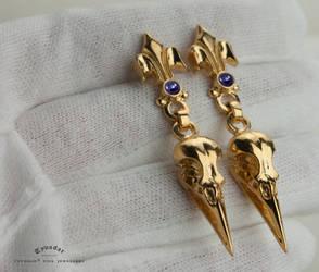 Skull gold earrings - Tyvodar .com
