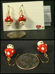 Dangly fungus earring set