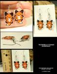Cute Foxie Earrings by CatharsisJB