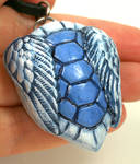 Winged Blue Turtle Shell