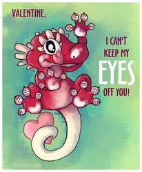 Crested Gecko Eyes Valentine