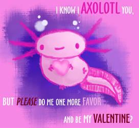 Axolotl Valentine by CatharsisJB