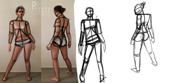 Figure drawing practice constructing the figure by mftwigs