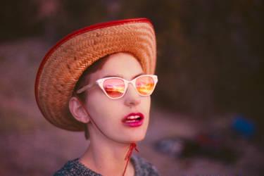 girl in hat by Deborah-Valentine