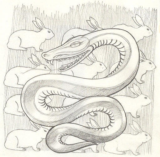snake's dream tattoo design by Deborah-Valentine