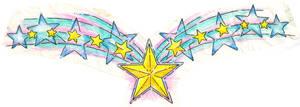 pastel stars tattoo design
