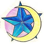 moon star tattoo design
