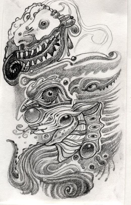 Doodle Mask2 by Deborah-Valentine