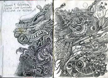 Doodle book in progress by Deborah-Valentine