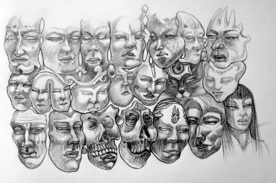 faces by Deborah-Valentine