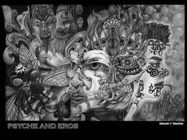 Psyche and Eros by Deborah-Valentine