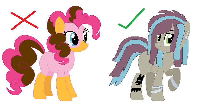 NG pony guide - Design and Names by SomeCoconut