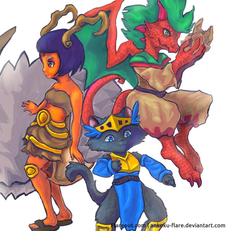 Wakfu Triple Threat by Ankoku-Flare