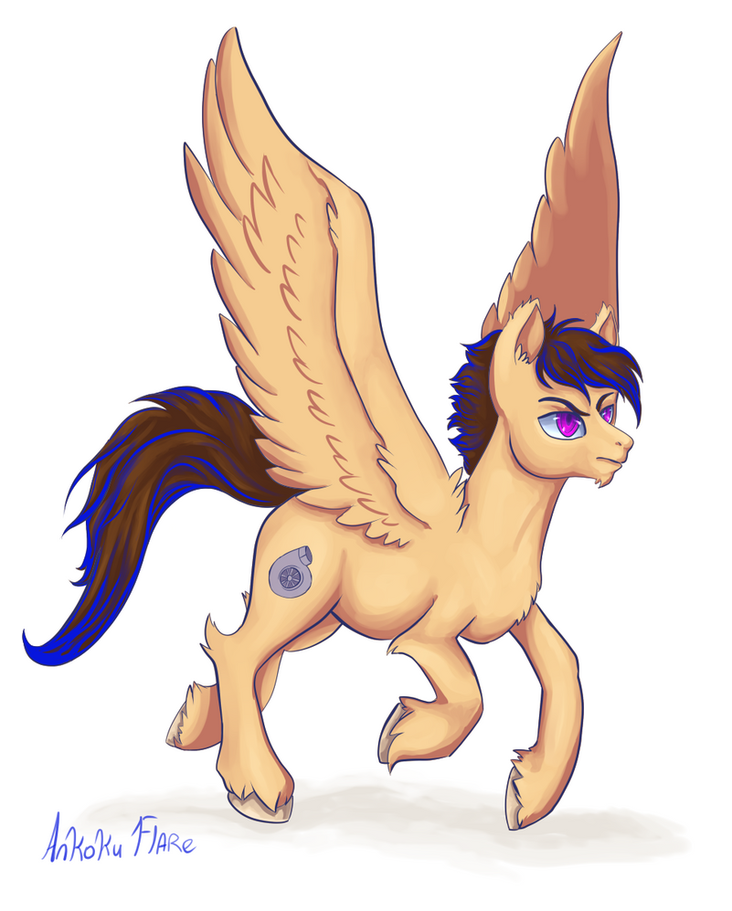 Commission: Turbo Pony by Ankoku-Flare