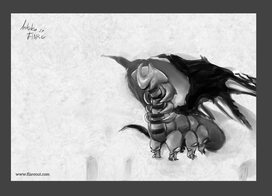 Inktober 1 Visitor by Ankoku-Flare