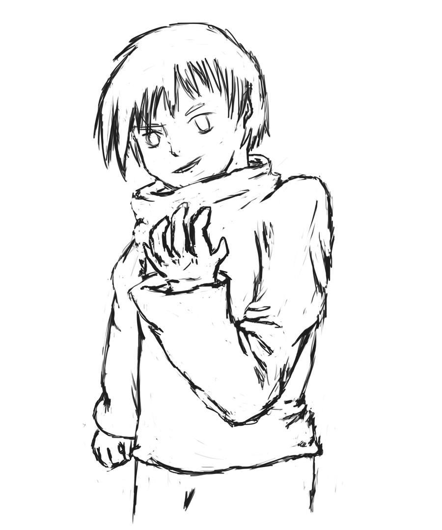 Line Art Character : Original character line art heat blast by