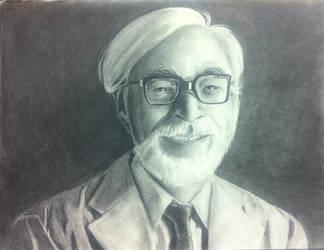 Miyazaki Hayao - portrait - final by FlamesofFireLily