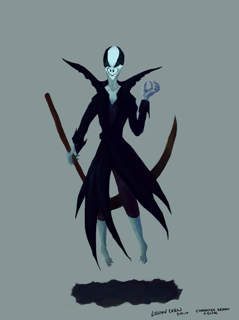 Bat Reaper - WIP7 (final) by FlamesofFireLily