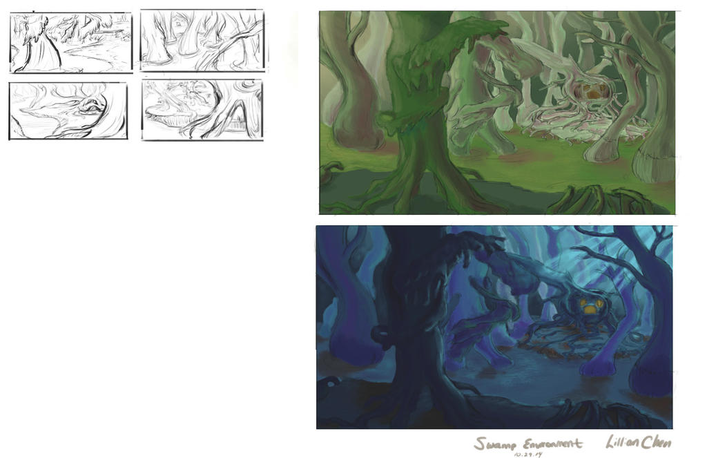 Swamp - Color and Exploration (WIP) by FlamesofFireLily