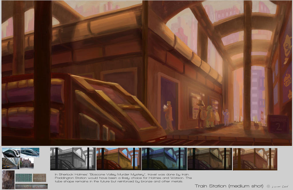 Train Station - design page by FlamesofFireLily