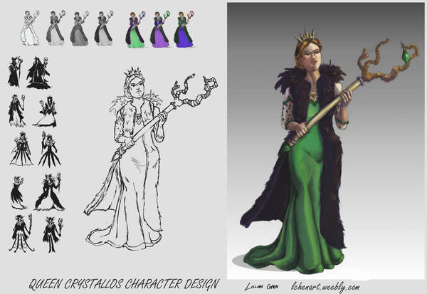 Queen Crystallos - design page by FlamesofFireLily