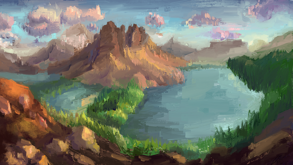 Sunburst Peak, Mt Assiniboine view Photo Study by FlamesofFireLily