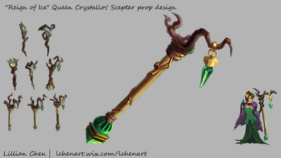 Queens Crystallos Scepter by FlamesofFireLily