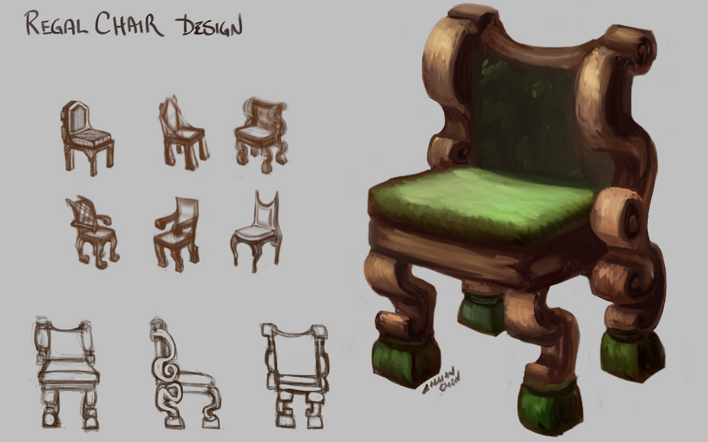 Regal Chair design by FlamesofFireLily