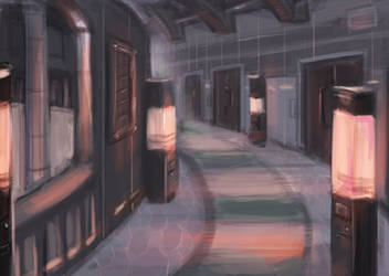 Hallway to rooms - Teens of Valor by FlamesofFireLily
