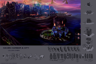 Haven Harbour and City - presentation sheet by FlamesofFireLily