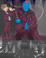 Yondu and Peter by SParrettArt