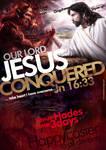 Jesus conquered
