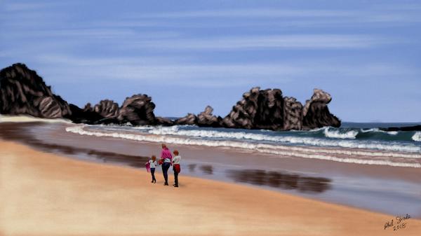 Beach Scene by oldlofty