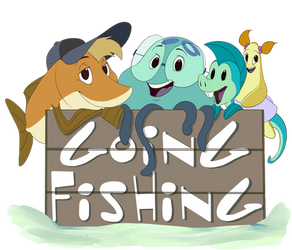 Help! I'm a Fish - Going Fishing (Shirt Design) by PumpkinSoup