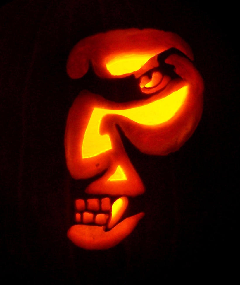 The gallery for pumpkin faces for Vampire teeth pumpkin stencils