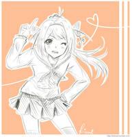 Orange girl by krisppie