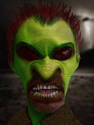 Portrait of a Lizardman by ThePixelMe