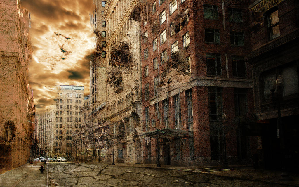 Post-Apocalypse City by ThePixelMe on DeviantArt