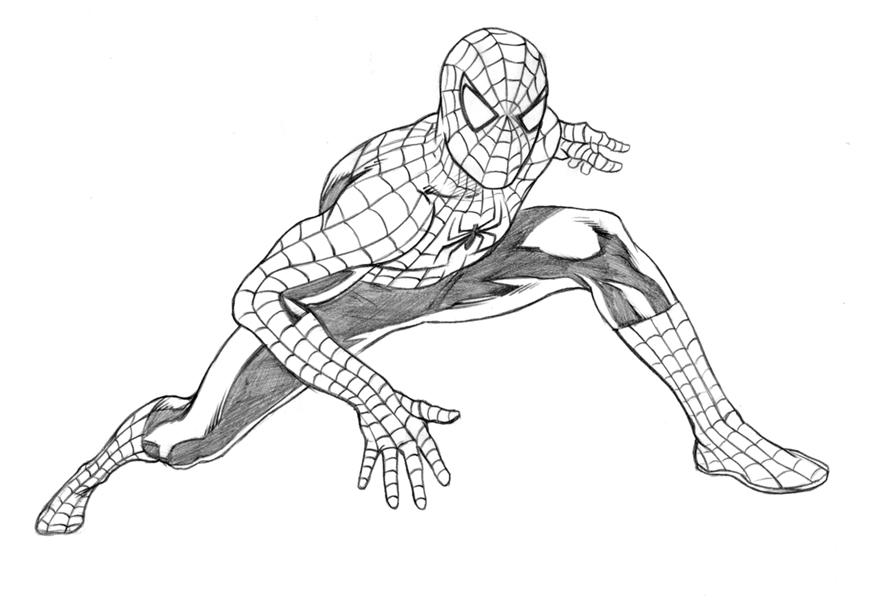Spider man movie pencils by adr ben on deviantart for Immagini da colorare spiderman