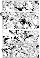 Superman vs Hulk page2 - Inks by adr-ben