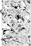 Superman vs Hulk page2 - Inks
