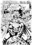 Superman vs Hulk page4 - Inks