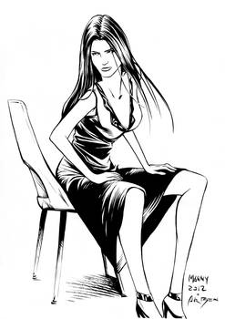 Girl by Manny Clark - Inks