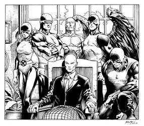Inks - X-Men Original Team by David Finch by adr-ben