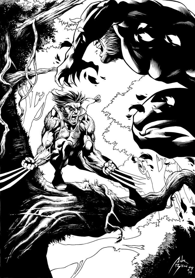 Wolverine vs Sabertooth Inks by adr-ben