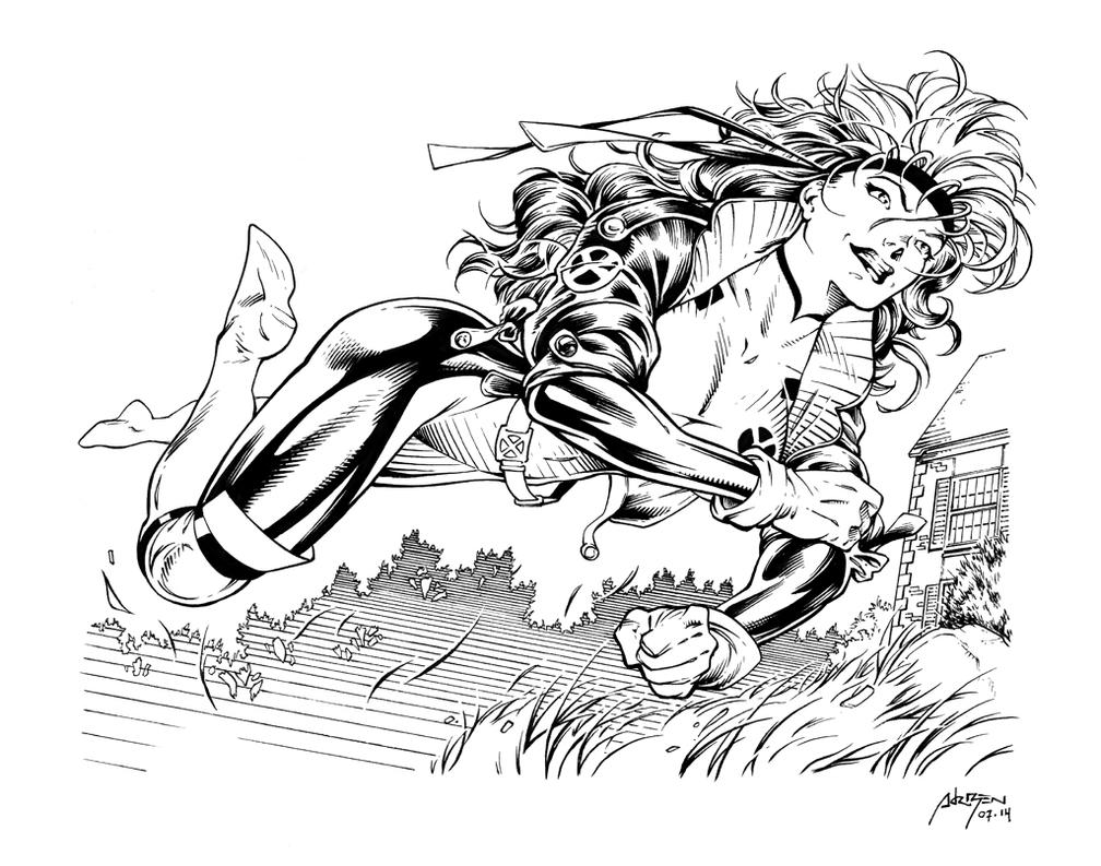 Inks: Rogue by Jim Lee by adr-ben