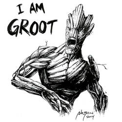 Groot - Ink Sketch