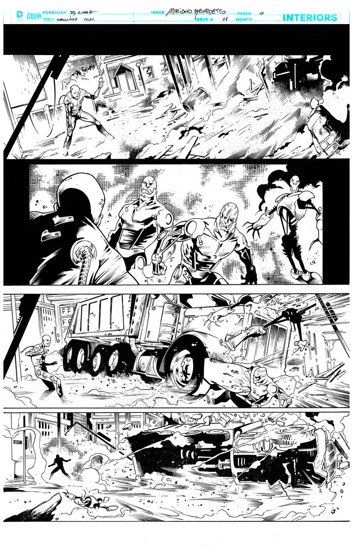 Inks - Smalville Page by Ig Guara by adr-ben