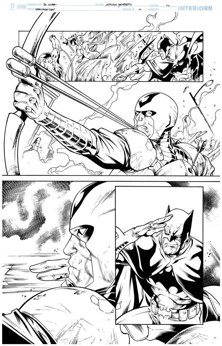 Inks - Smalville Page by Ig Guara 2 by adr-ben