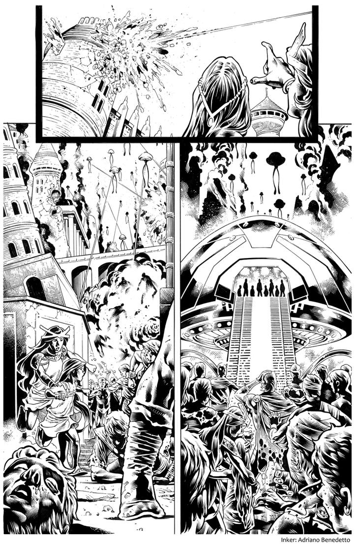 Inks - Secret Origins Page by Paulo Siqueira by adr-ben